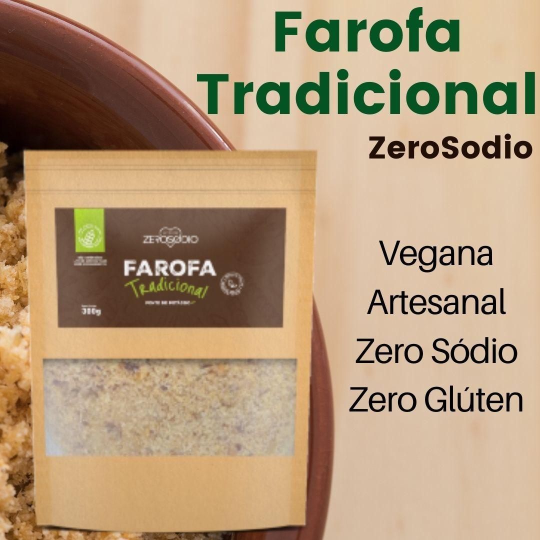 FAROFA VEGANA TRADICIONAL 300G - ZEROSODIO