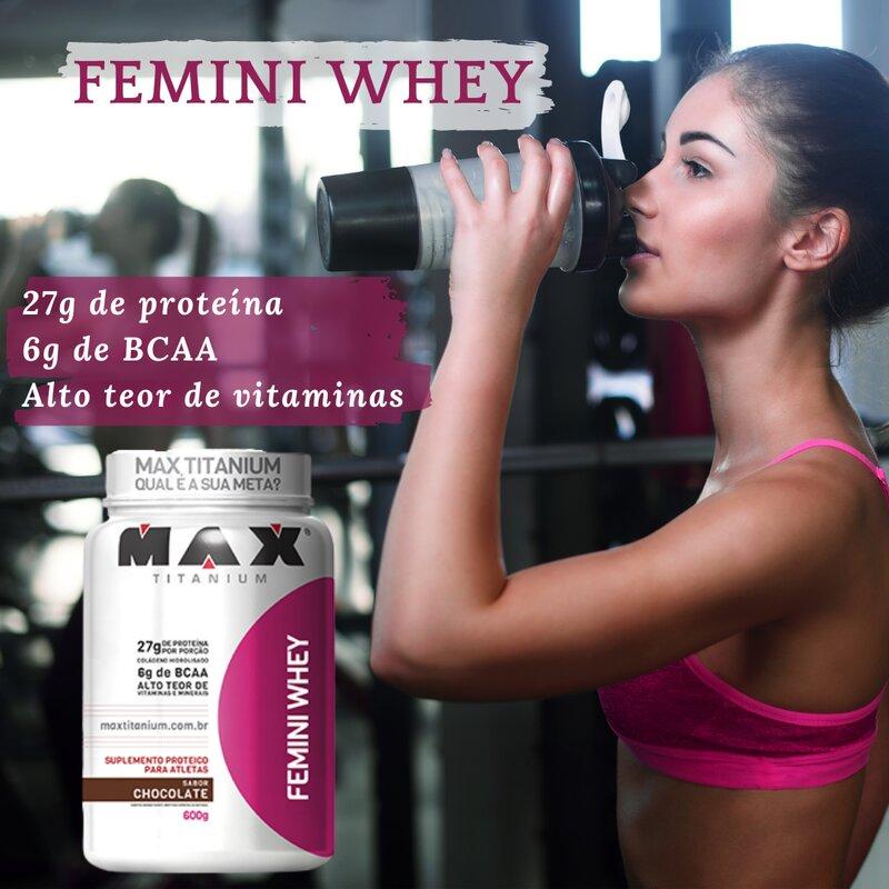 FEMINI WHEY CHOCOLATE 900G - MAX TITANIUM