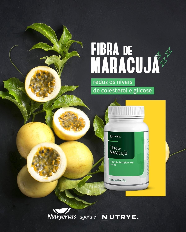 FIBRA DE MARACUJÁ EM PÓ 250G - NUTRYE