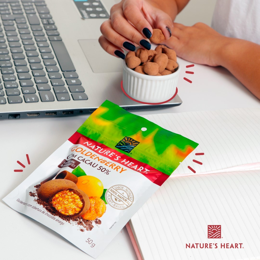 GOLDENBERRY COM COBERTURA DE CHOCOLATE 50% 50G - NATURE'S HEART