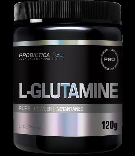 L-GLUTAMINE 120 g SEM SABOR PROBIÓTICA