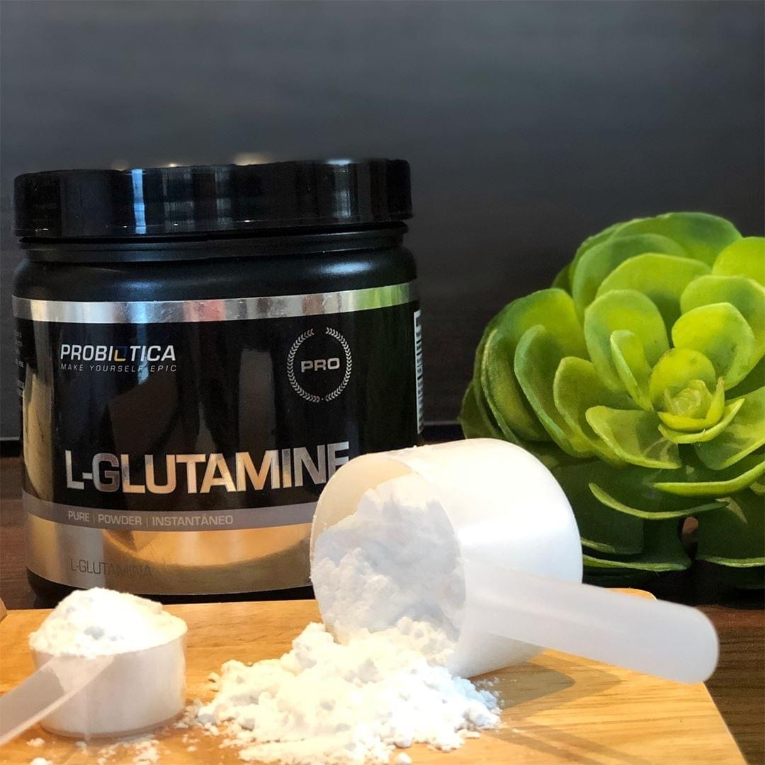 L-GLUTAMINE 120G SEM SABOR PROBIÓTICA