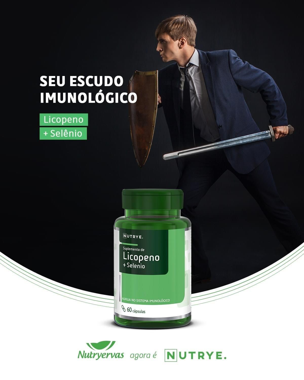 LICOPENO + SELÊNIO 60 CÁPSULAS NUTRYE