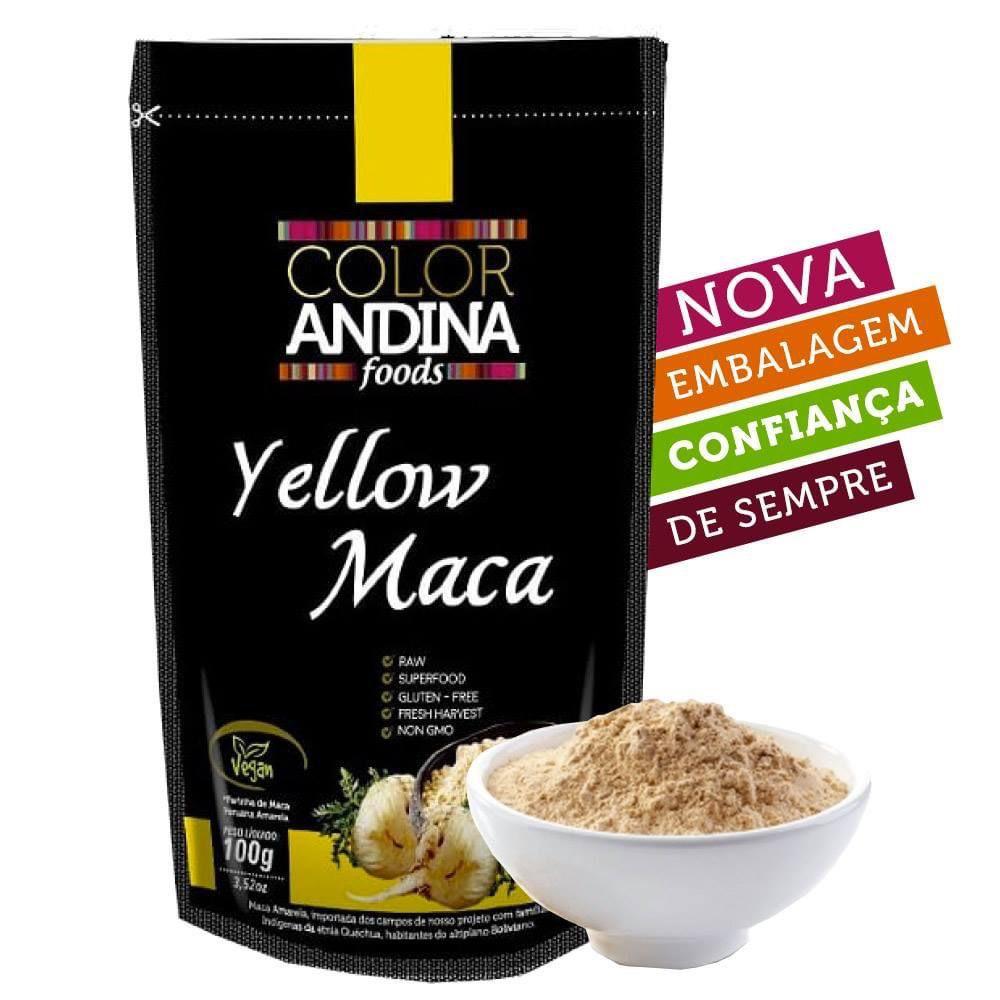 MACA PERUANA AMARELA  EM PÓ 100G - COLOR ANDINA FOODS