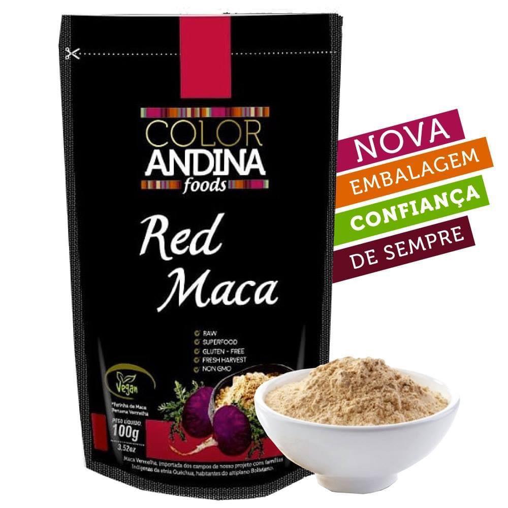 MACA PERUANA VERMELHA  EM PÓ 100G - COLOR ANDINA FOODS