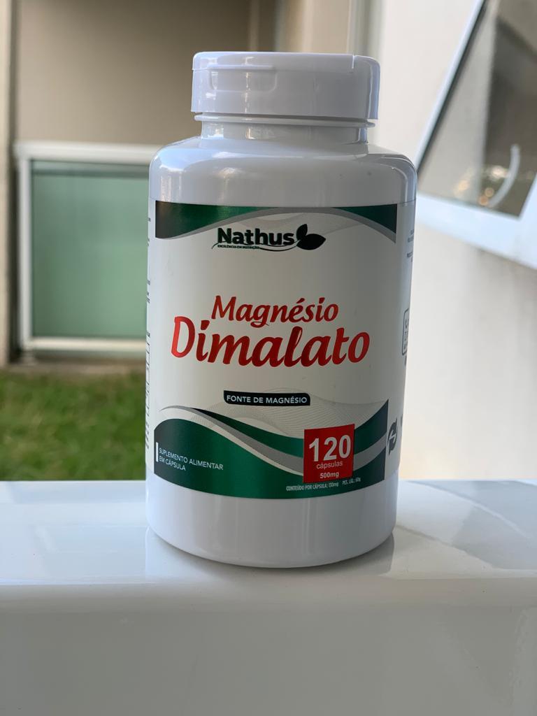 MAGNÉSIO DIMALATO 500MG 120 CÁPSULAS - NATHU'S