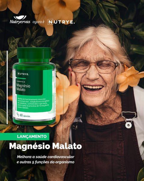 MAGNÉSIO MALATO 1500MG 60 CÁPSULAS - NUTRYE