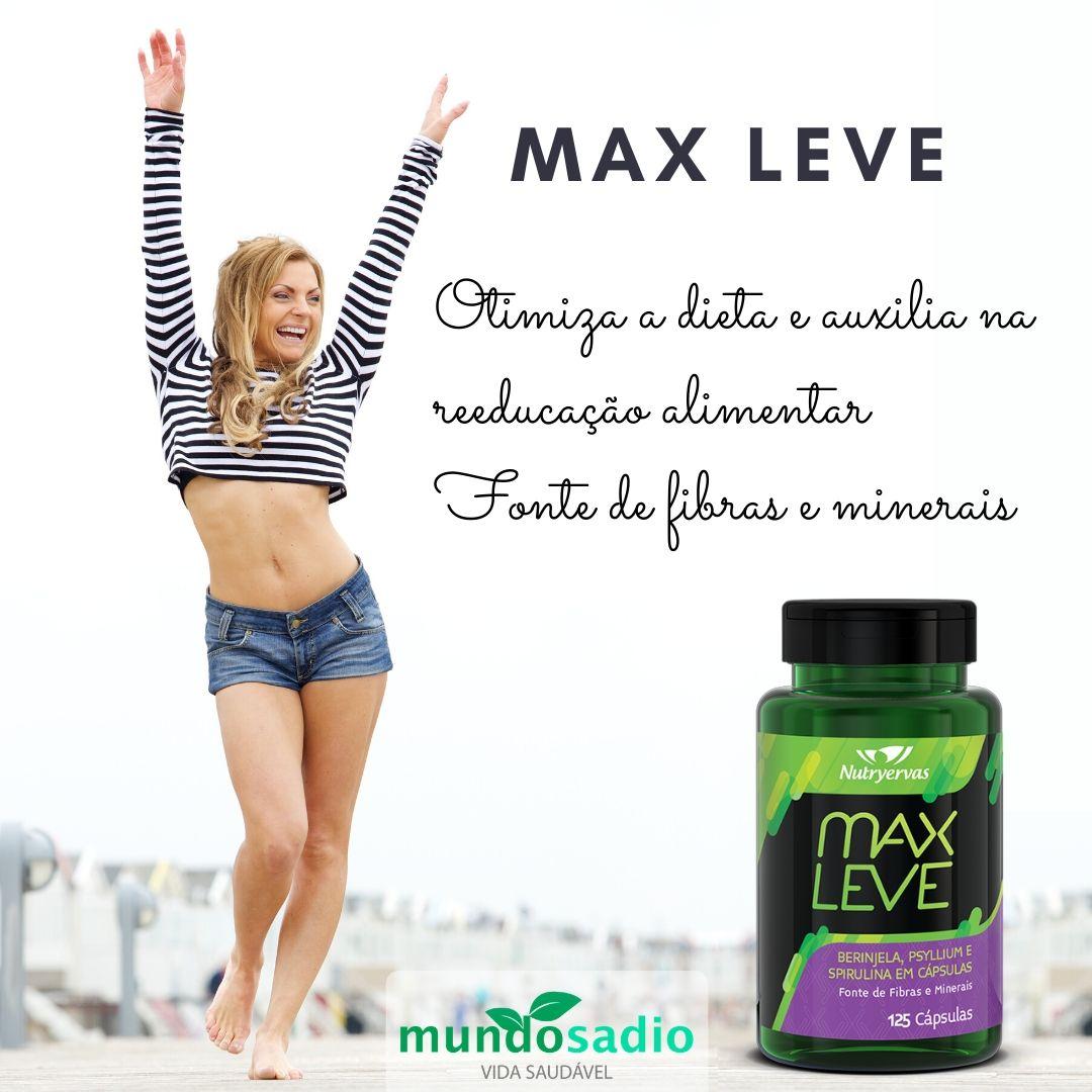 MAX LEVE - REDUTOR DE MEDIDAS NUTRYERVAS 125 CÁPSULAS