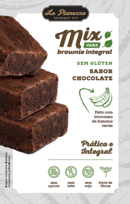 MIX PARA BROWNIE INTEGRAL SABOR CHOCOLATE 300G - LA PIANEZZA