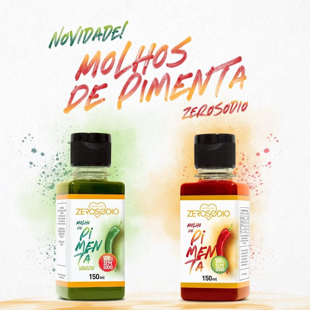 MOLHO DE PIMENTA VERMELHA 150G - ZEROSÓDIO