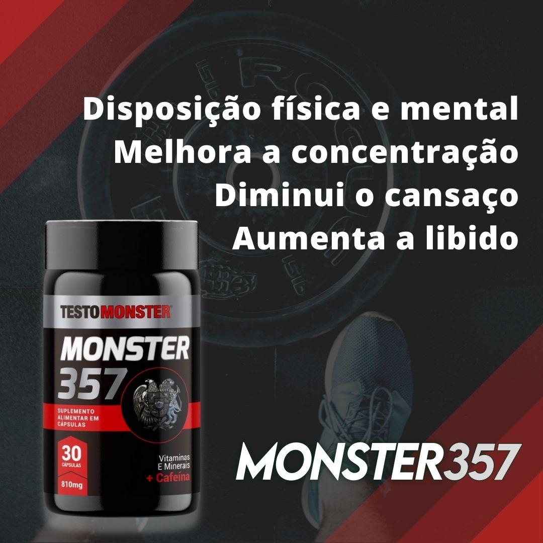 MONSTER 357 810MG 30 CÁPSULAS - TESTO MONSTER