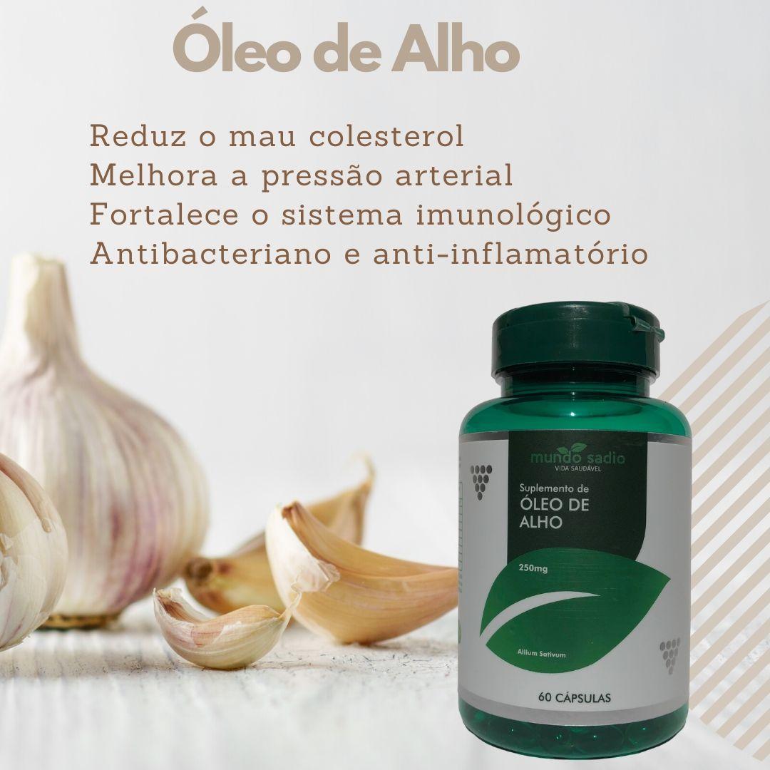 ÓLEO DE ALHO 250MG 60 CÁPSULAS - MUNDO SADIO