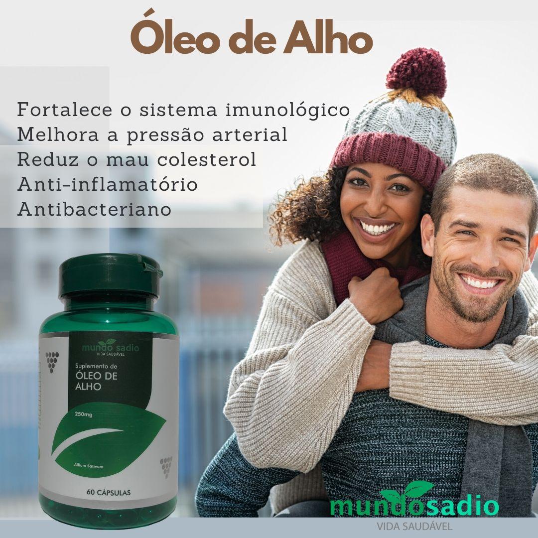 ÓLEO DE ALHO 250 mg MUNDO SADIO 60 CÁPSULAS