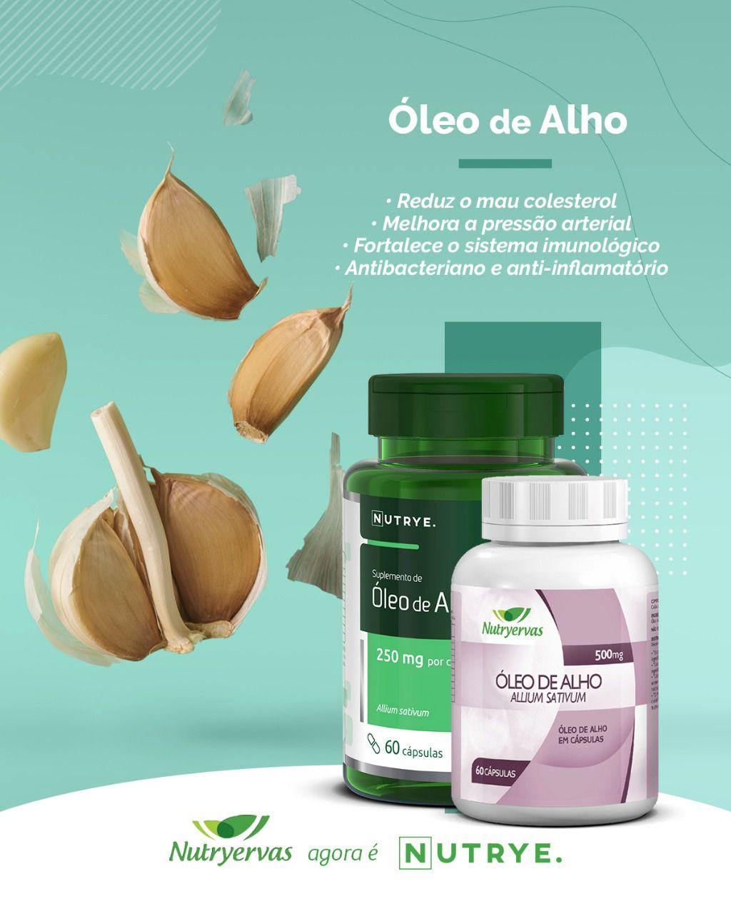 ÓLEO DE ALHO NUTRYE 60 CÁPSULAS