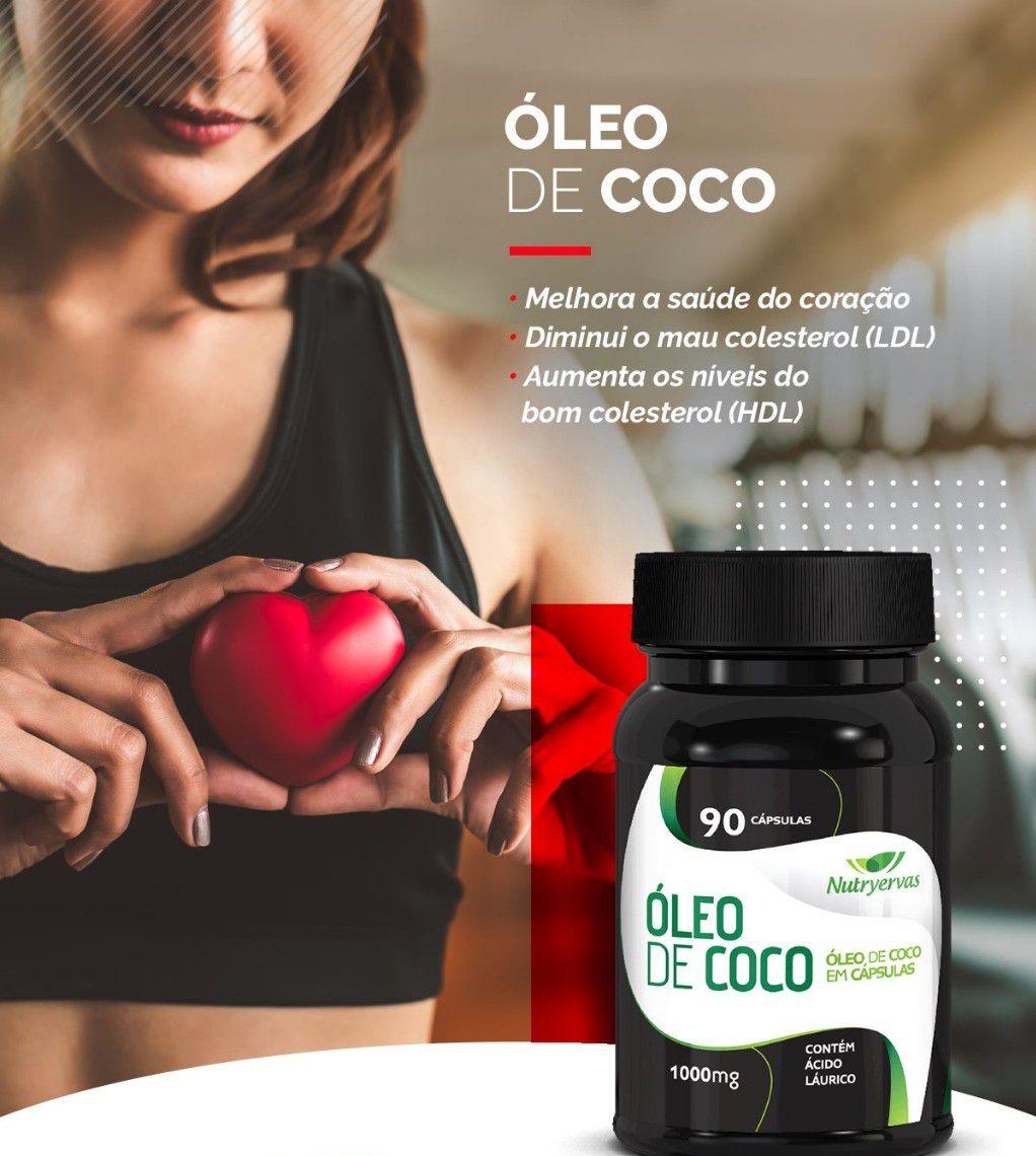 ÓLEO DE COCO 90 CÁPSULAS - NUTRYERVAS