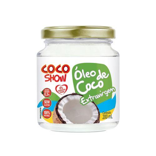 ÓLEO DE COCO EXTRA VIRGEM 200ML COCO SHOW