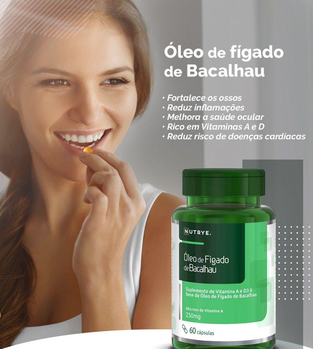 ÓLEO DE FÍGADO DE BACALHAU 60 CÁPSULAS - NUTRYE