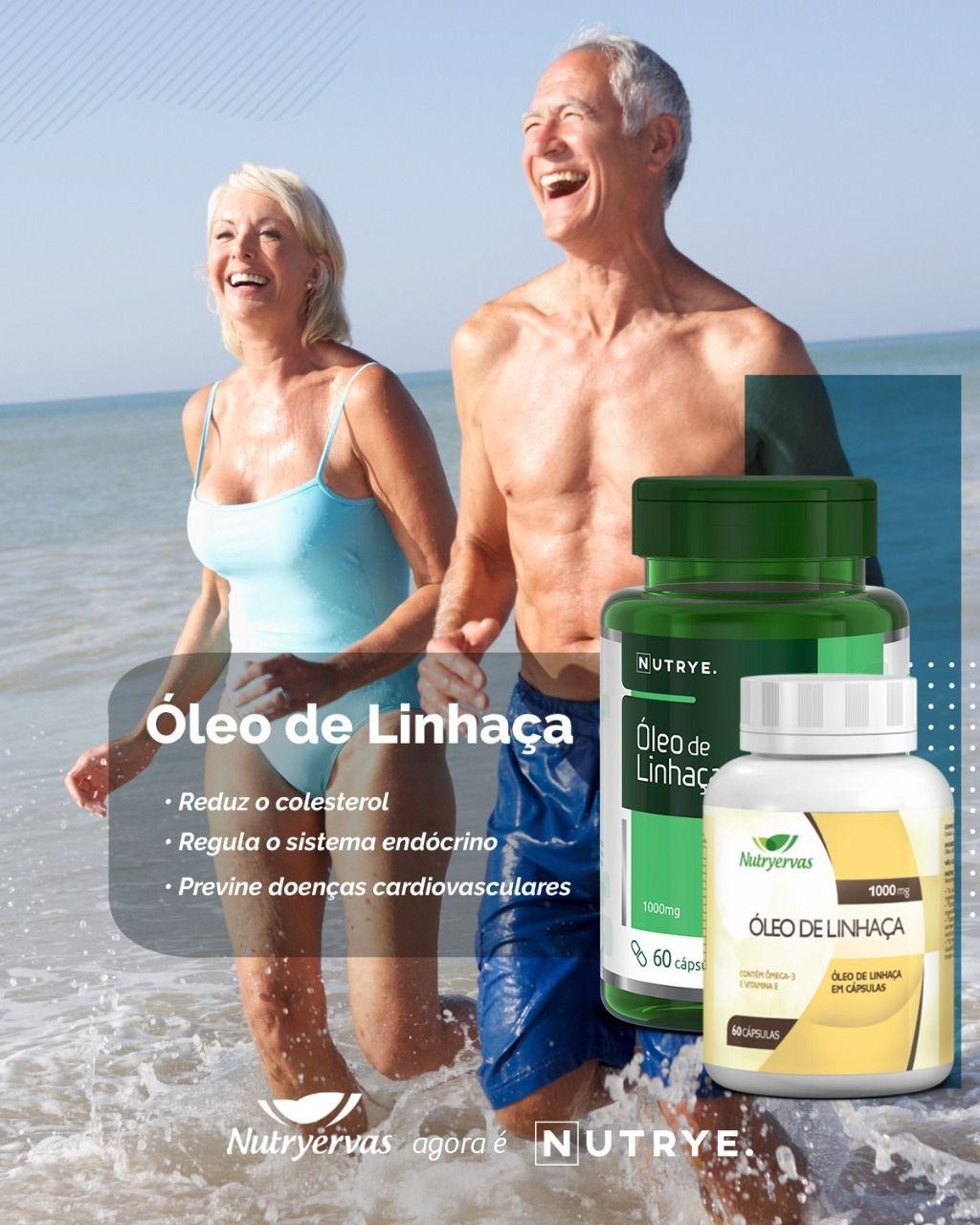 ÓLEO DE LINHAÇA 60 CÁPSULAS - NUTRYERVAS