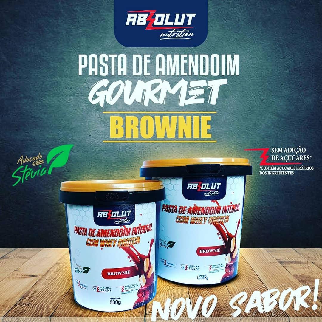PASTA DE AMENDOIM GOURMET BROWNIE 500G - ABS NUTRITION