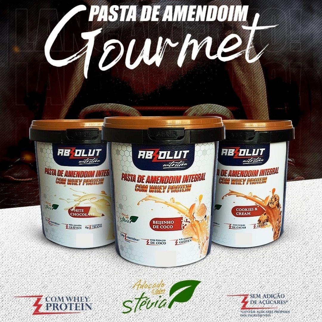 PASTA DE AMENDOIM GOURMET CHOCOLATE BRANCO 500G - ABS NUTRITION