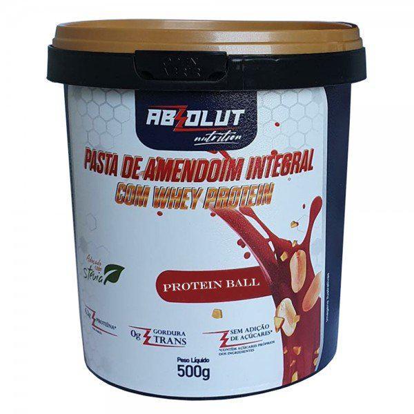 PASTA DE AMENDOIM GOURMET PROTEIN BALL 500G - ABS NUTRITION