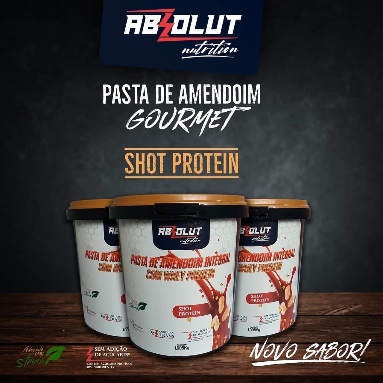 PASTA DE AMENDOIM GOURMET SHOT PROTEIN 500G - ABS NUTRITION