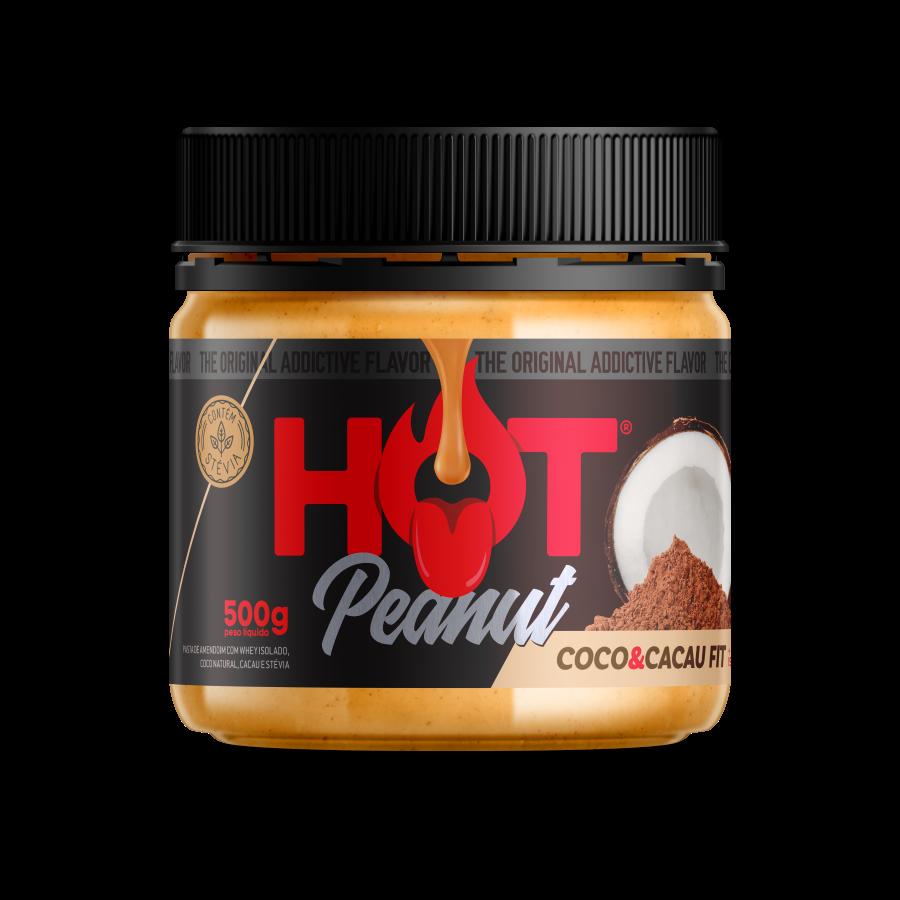 PASTA DE AMENDOIM HOT PEANUT COCO & CACAU 500G - HOT FIT