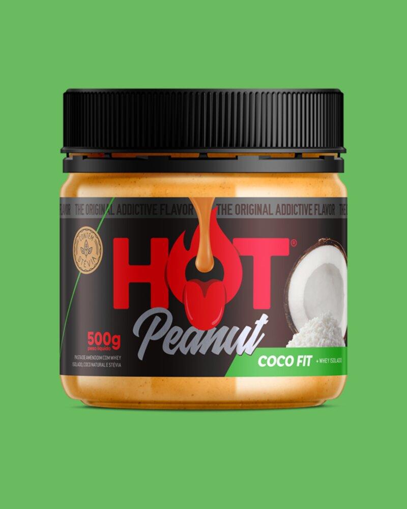 PASTA DE AMENDOIM HOT PEANUT COCO FIT 500G - HOT FIT