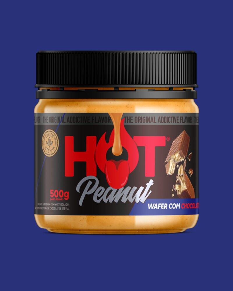 PASTA DE AMENDOIM HOT PEANUT WAFER COM CHOCOLATE 500G - HOT FIT