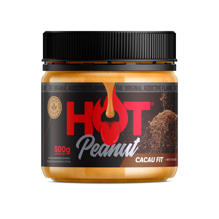 PASTA DE AMENDOIM HOT PEANUT CACAU 500G - HOT FIT