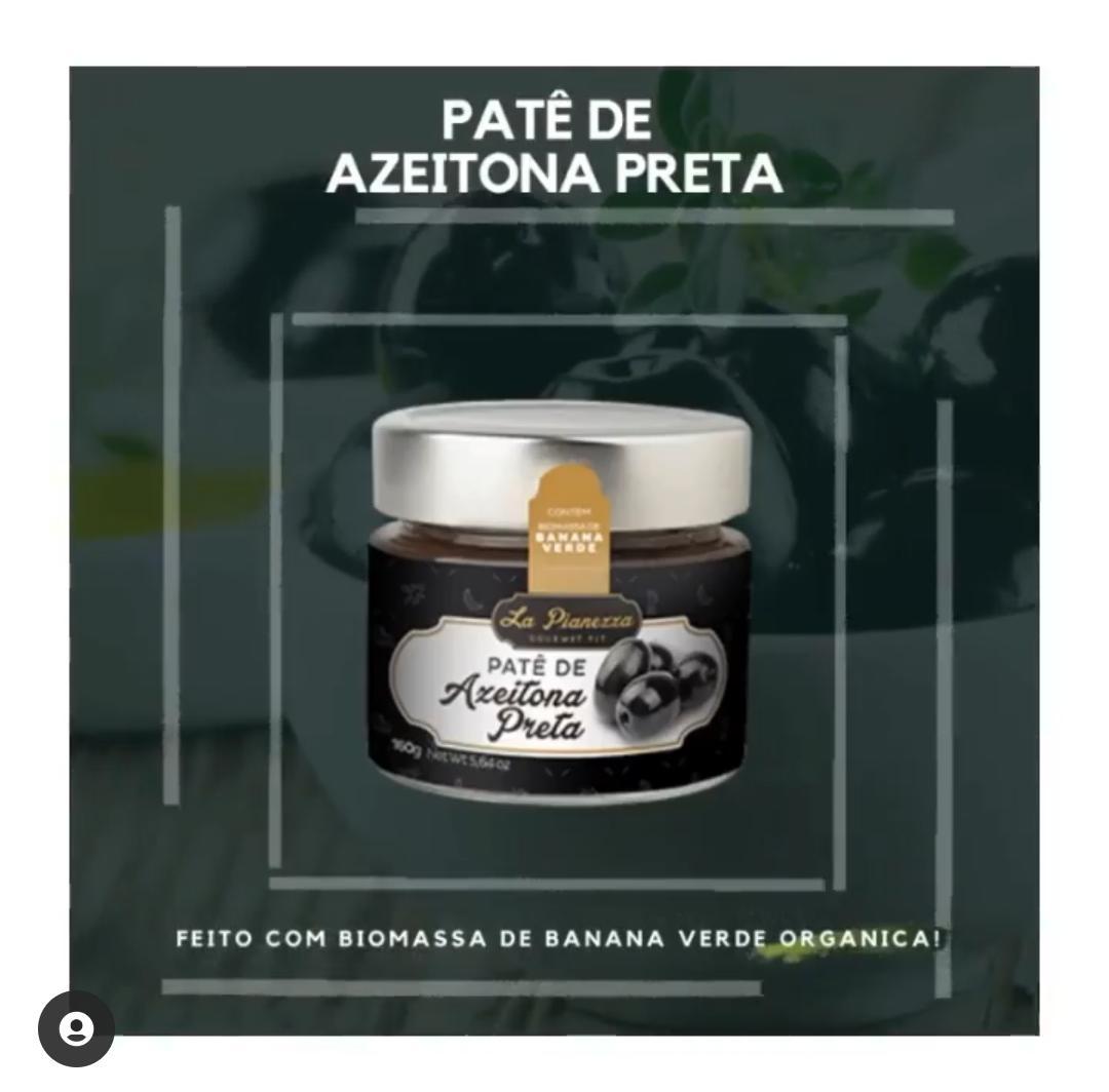PATÊ GOURMET FIT DE AZEITONA PRETA 160G - LA PIANEZZA