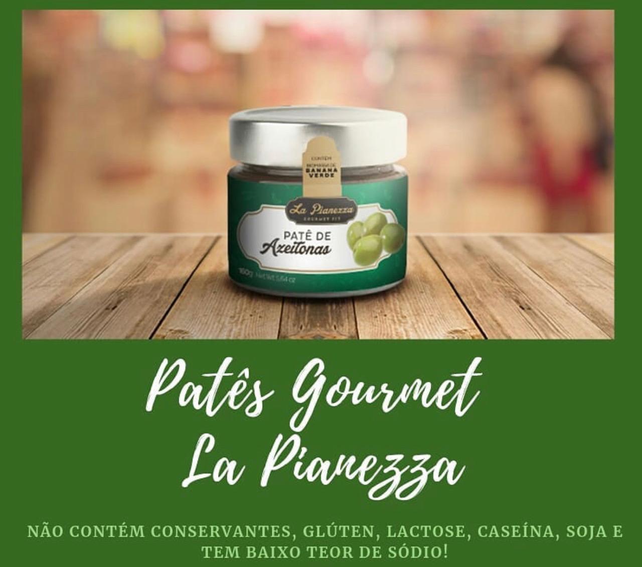 PATÊ GOURMET FIT DE AZEITONA VERDE 160G - LA PIANEZZA