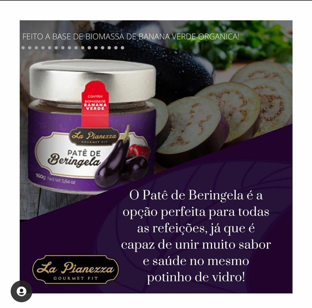 PATÊ GOURMET FIT DE BERINJELA 160G - LA PIANEZZA
