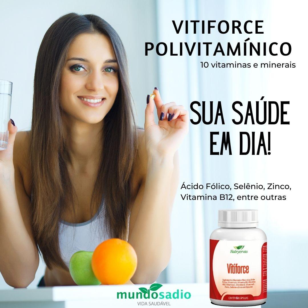POLIVITAMÍNICO VITIFORCE 60 CÁPSULAS - NUTRYERVAS