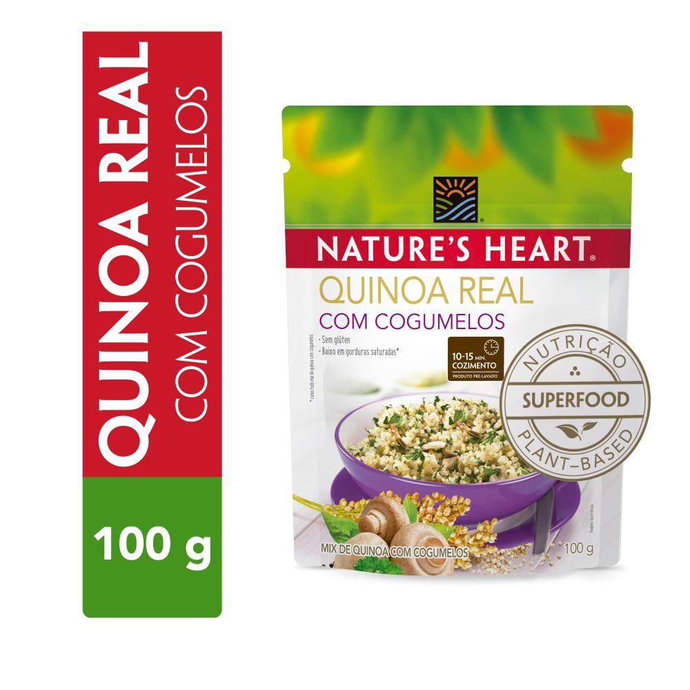QUINOA REAL COM COGUMELOS 100G - NATURE'S HEART