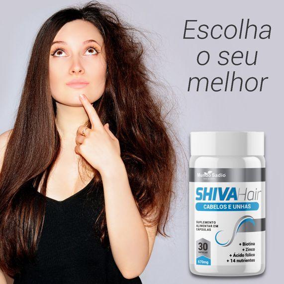 SHIVA HAIR (CABELOS E UNHAS) 30 CÁPSULAS - MUNDO SADIO