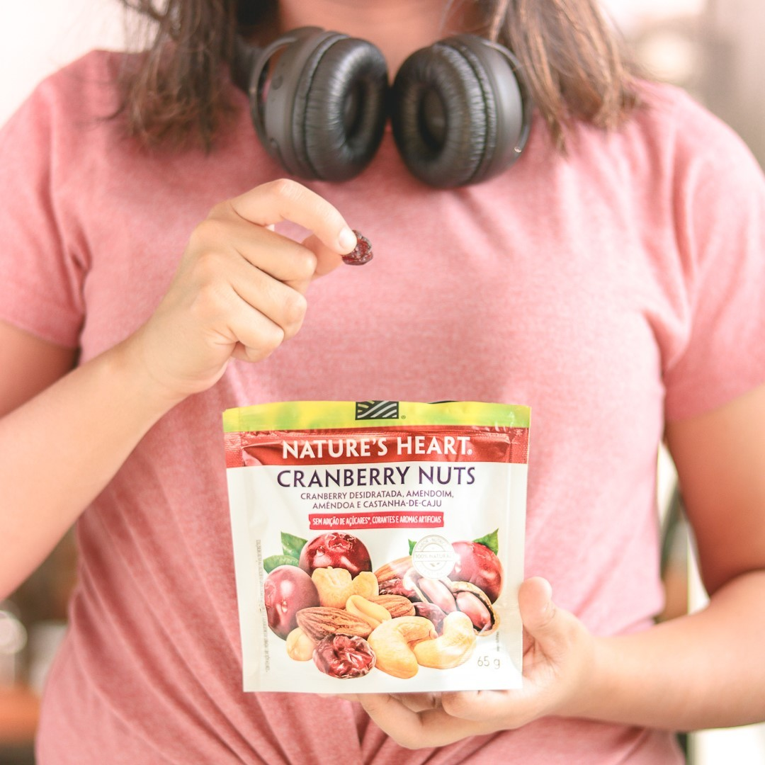 SNACK CRANBERRY NUTS 65G - NATURE'S HEART
