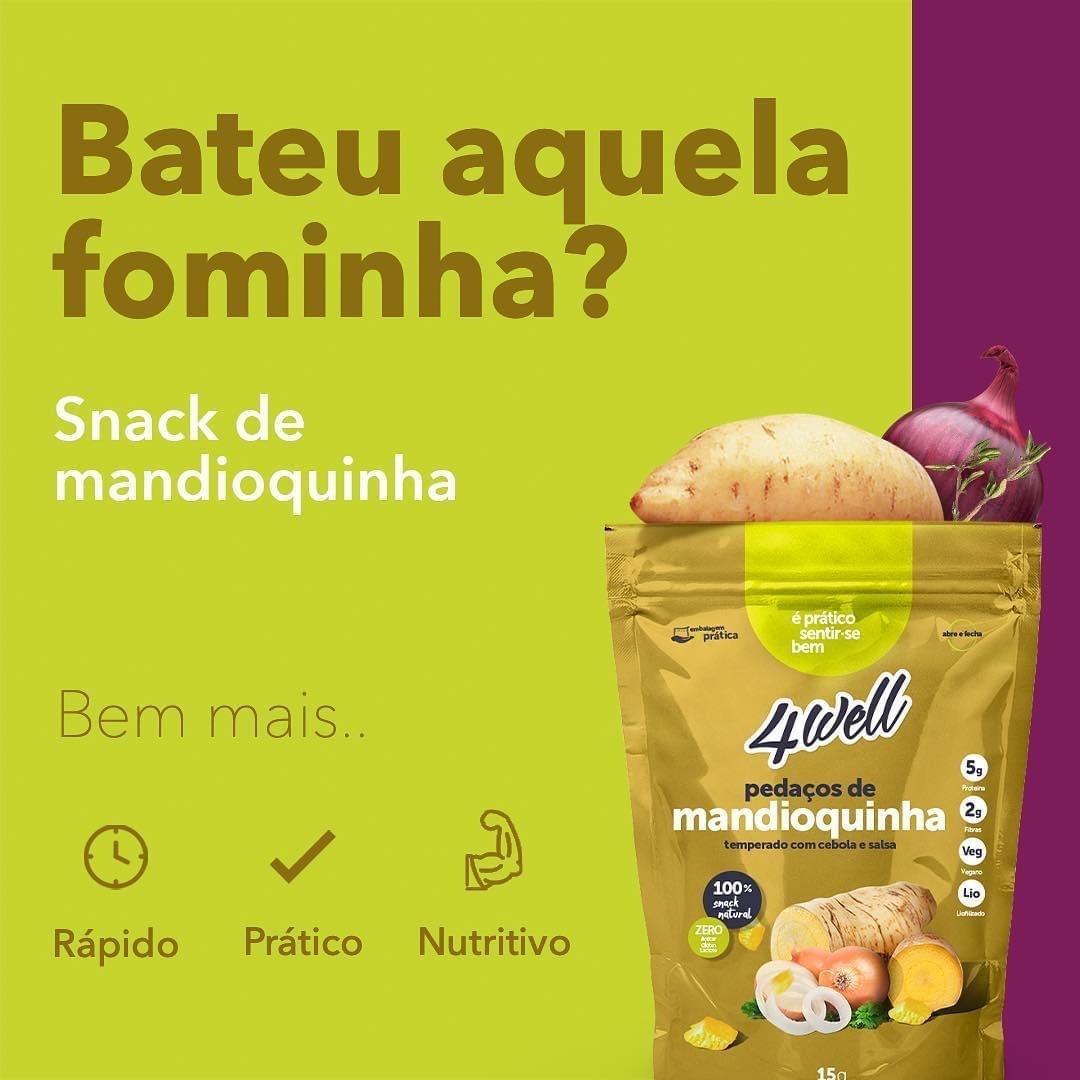 SNACK DE MANDIOQUINHA LIOFILIZADA COM CEBOLA E SALSA 20G - 4WELL
