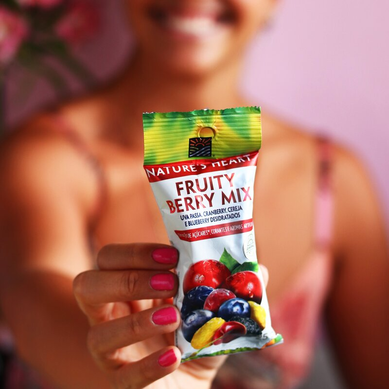 SNACK FRUITY BERRY MIX 25G - NATURE'S HEART
