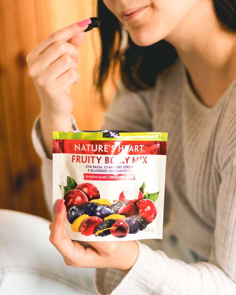 SNACK FRUITY BERRY MIX 65G - NATURE'S HEART