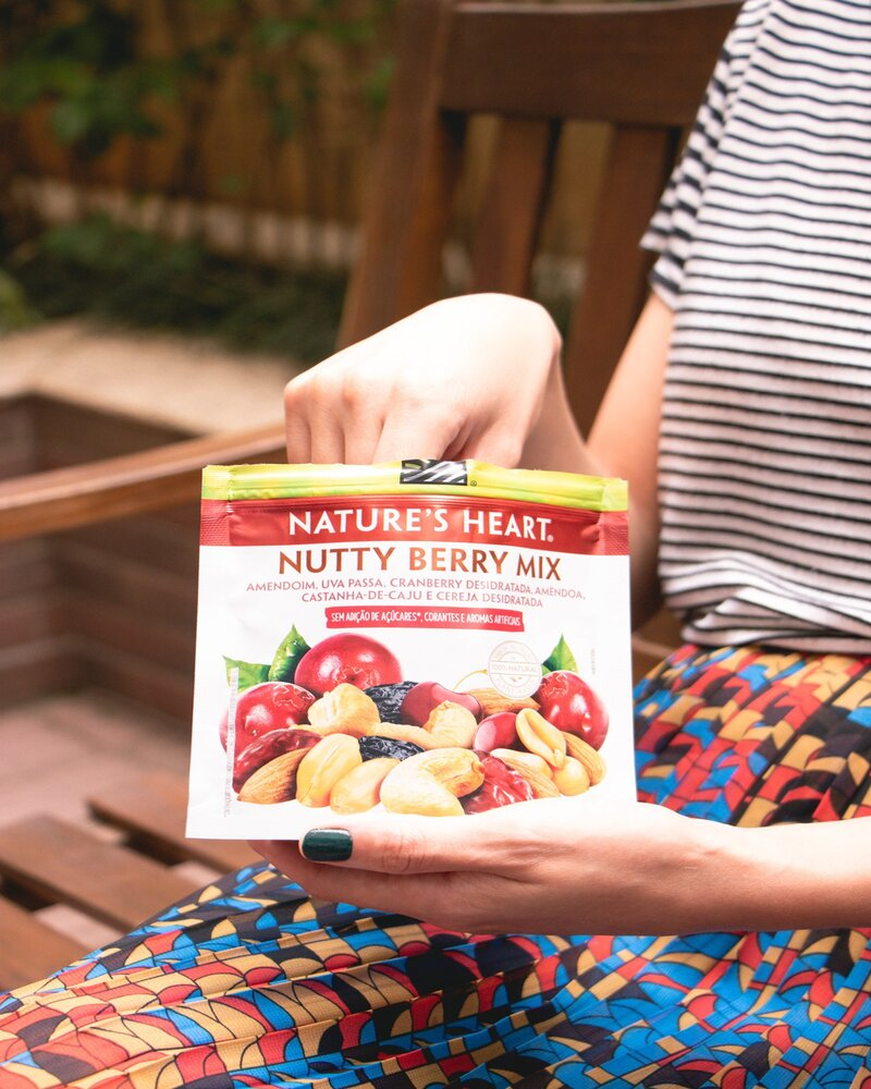 SNACK NUTTY BERRY MIX 65G - NATURE'S HEART