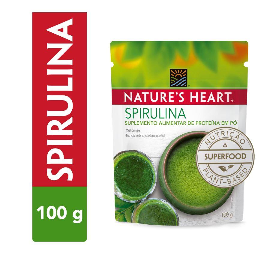 SPIRULINA EM PÓ 100G - NATURE'S HEART