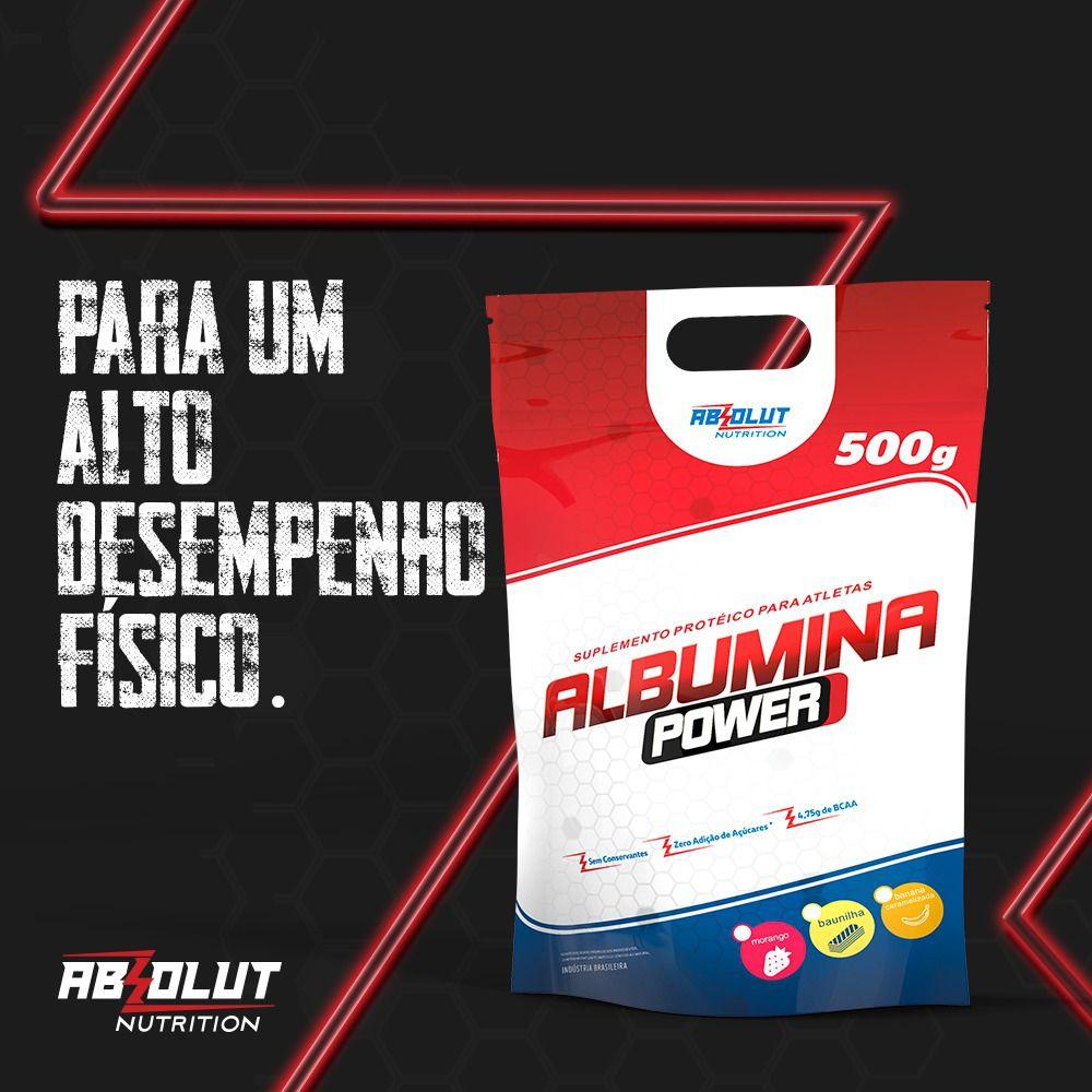 SUPLEMENTO ALBUMINA MORANGO 500G - ABS NUTRITION