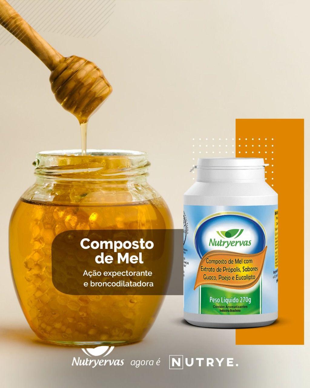 COMPOSTO DE MEL COM PRÓPOLIS NUTRYERVAS 270G