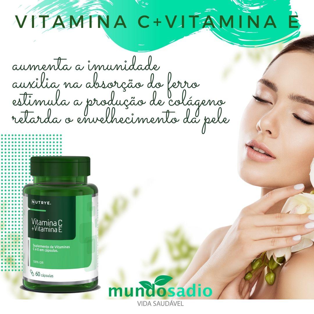 SUPLEMENTO DE VITAMINA C + VITAMINA E 60 CÁPSULAS - NUTRYE
