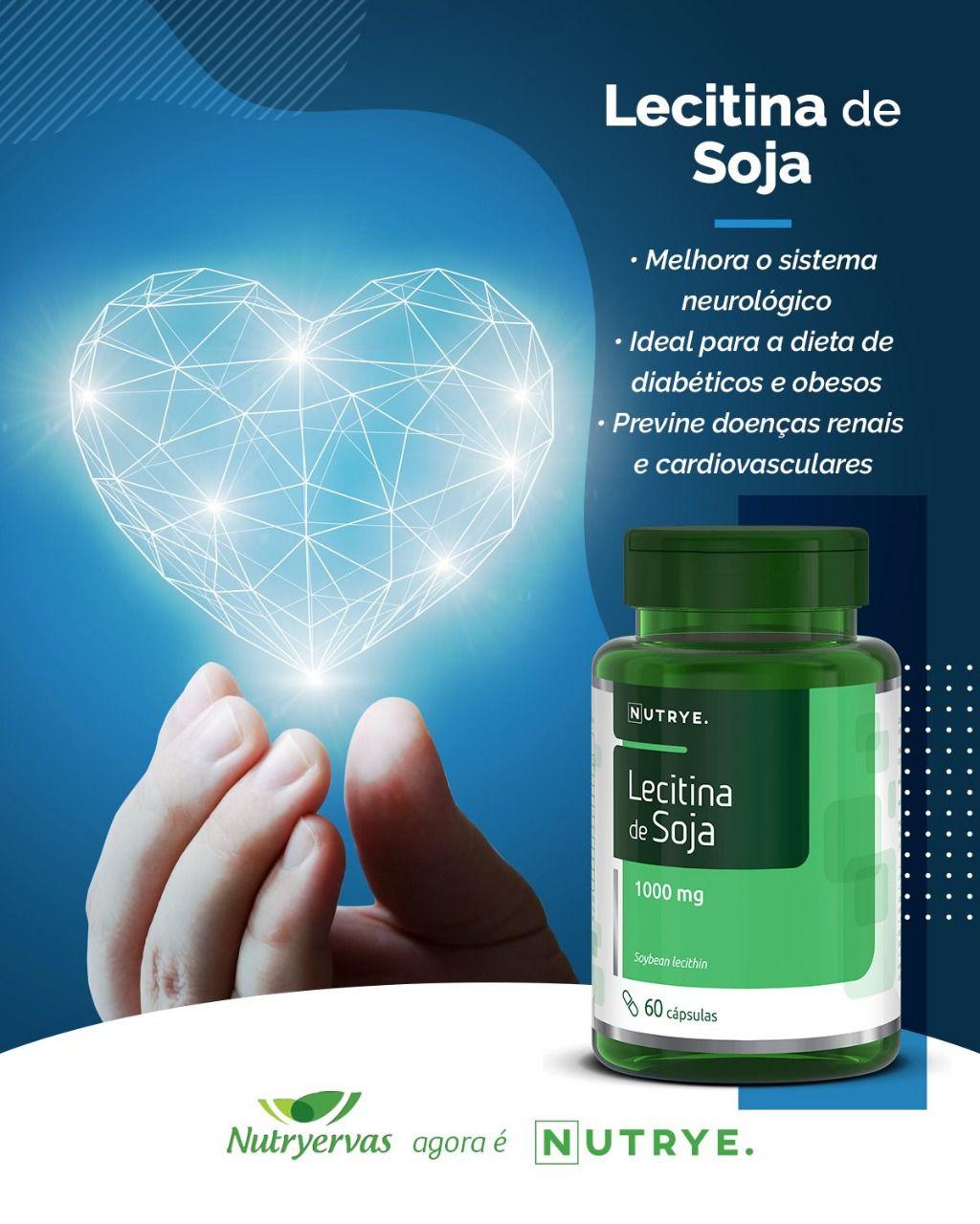 LECITINA DE SOJA 60 CÁPSULAS - NUTRYE