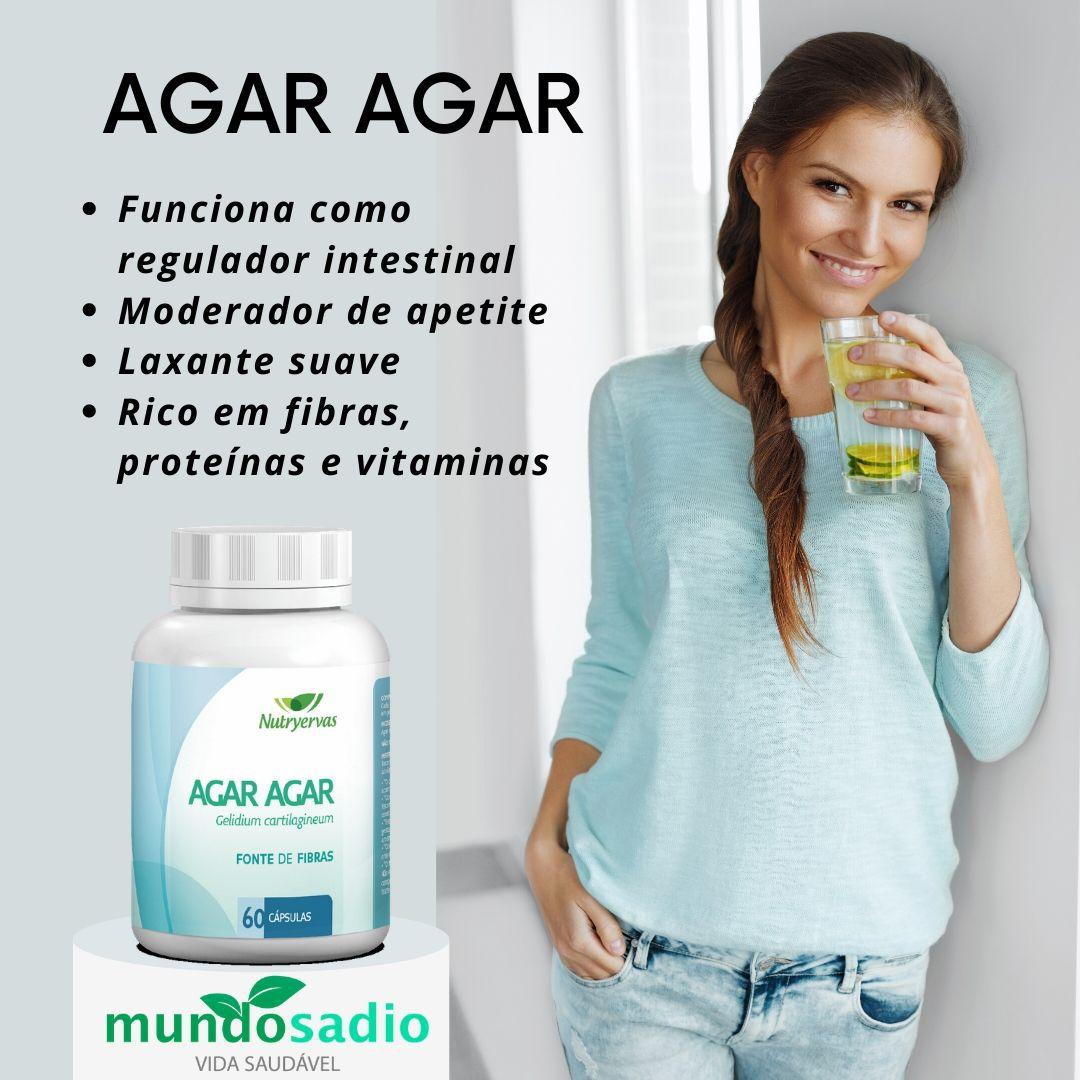 AGAR-AGAR SUPLEMENTO MINERAL NUTRYERVAS 60 CÁPSULAS