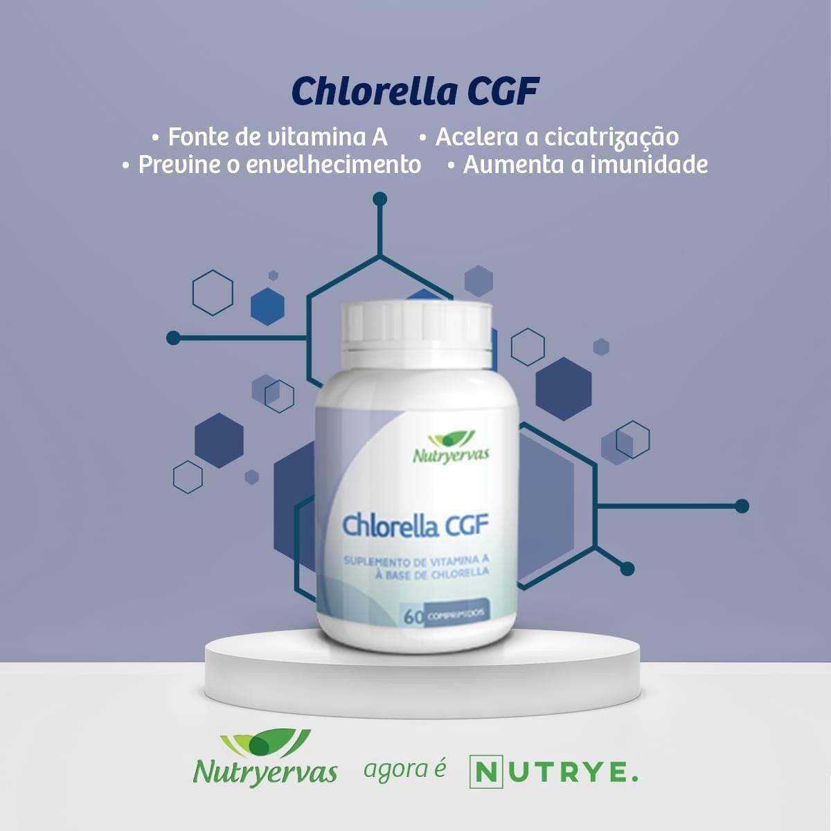 CHLORELLA CGF 500MG 60 COMPRIMIDOS - NUTRYERVAS
