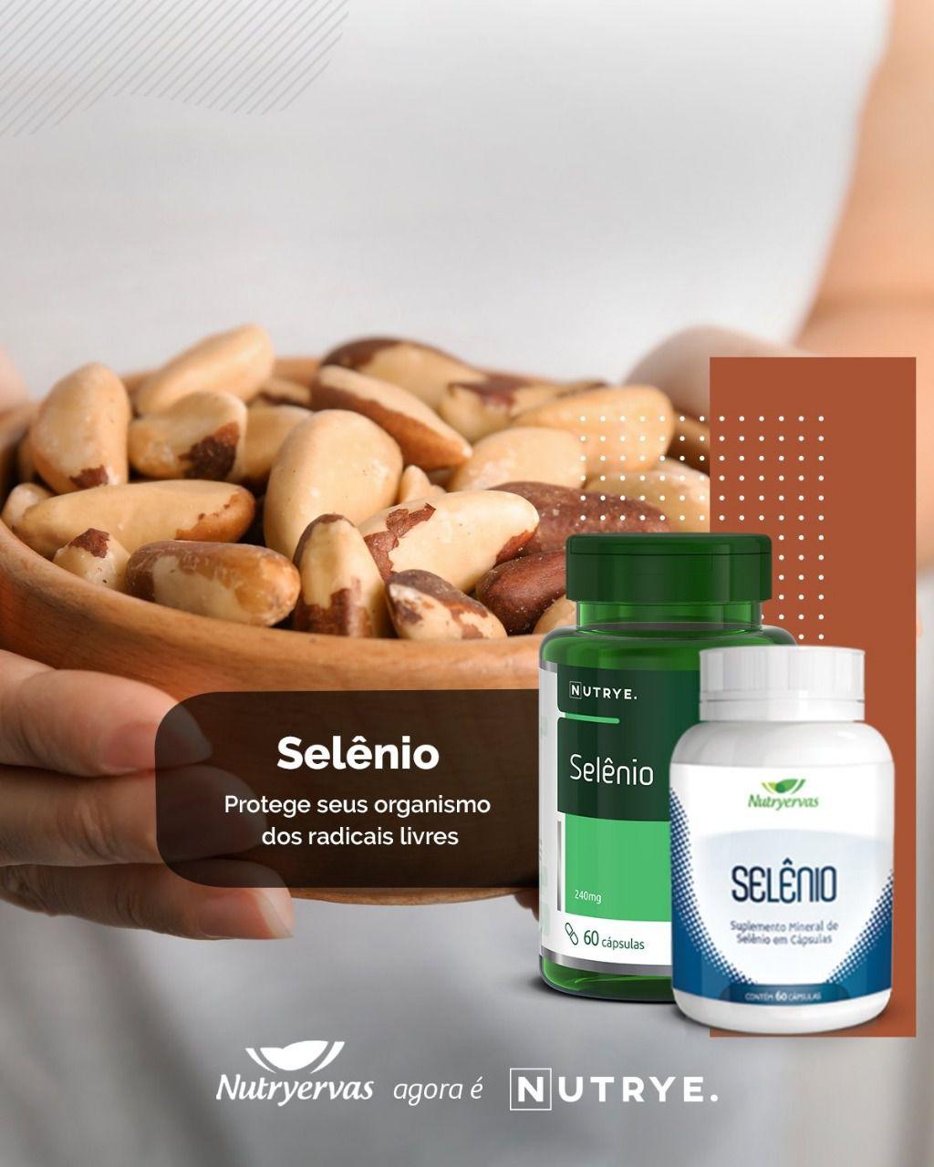 SUPLEMENTO MINERAL DE SELÊNIO 60 CÁPSULAS - NUTRYERVAS
