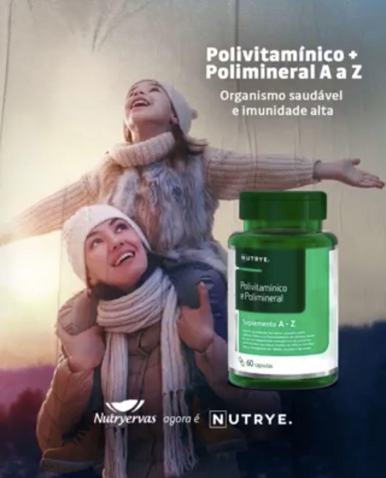 SUPLEMENTO POLIVITAMÍNICO E POLIMINERAL 60 CÁPSULAS - NUTRYE
